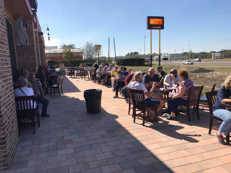Krueger Brewing Biergarten patio
